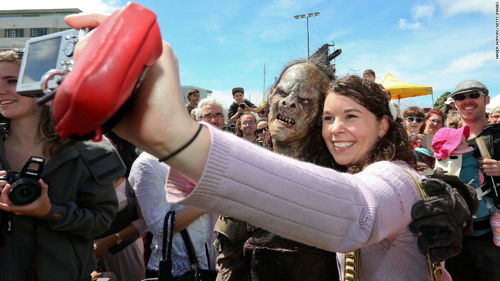 """Hobbit"" fans are treated to the sight of orcs wandering the streets of New Zealand's capital."