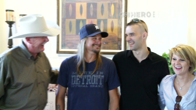 Kid Rock, CNN Hero surprise wounded vet