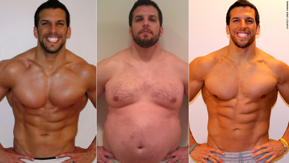 "<a href=""http://www.cnn.com/2012/06/05/health/drew-manning-fit2fat2fit-lessons/index.html"">Drew Manning's story</a> shocked America. The fitness trainer purposely put on 70 pounds in six months last year, only to drop it all again before June. Manning said his goal was to understand better what his clients were going through as they struggled to lose weight. ""The biggest thing (I learned) is that it's not just about the physical. It's not just about the meal plan and the workouts and those things. The key is the mental and the emotional issues. I realized those issues are real,"" he said at the time. Manning has maintained his body and is continually working others to adopt a healthier lifestyle. You can see some of their <a href=""http://www.facebook.com/media/set/?set=a.352217211497804.96152.188016847917842&type=3"" target=""_blank"">inspiring stories here</a>."