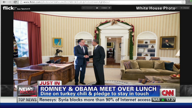 Obama & Romney do lunch ... no beef