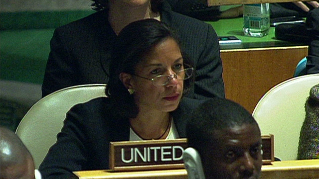 Rice: U.N. vote an obstacle to peace