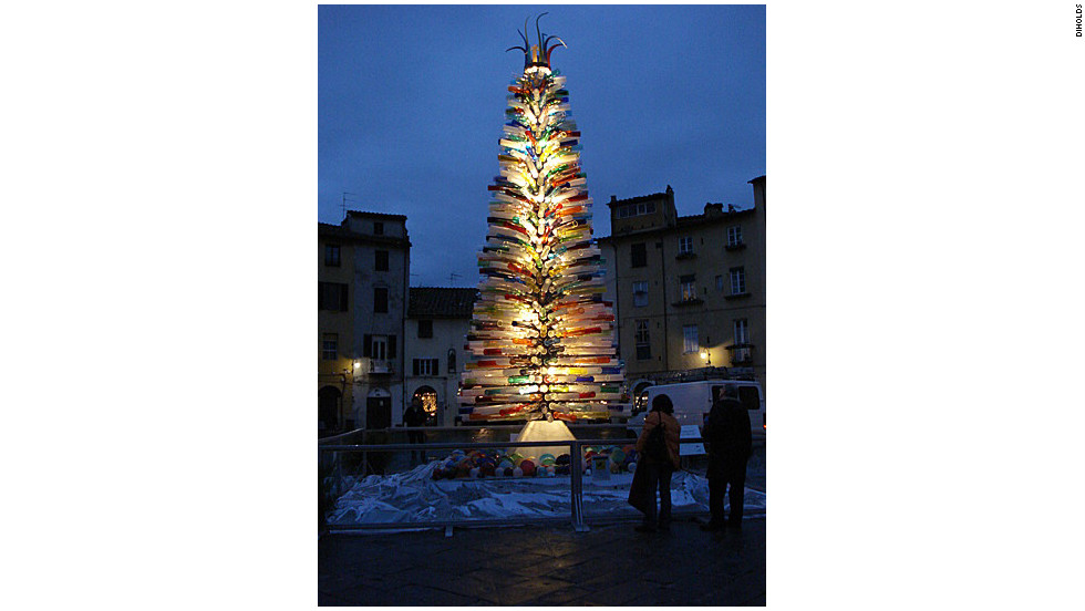 A Murano Glass Christmas tree in Italy.