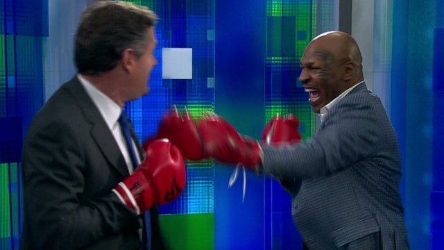 Tyson and Morgan fight it out