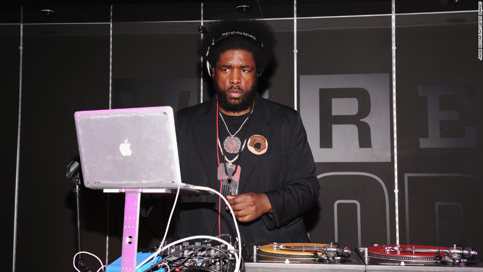 Questlove performs at the WIRED Store opening night party in New York City.