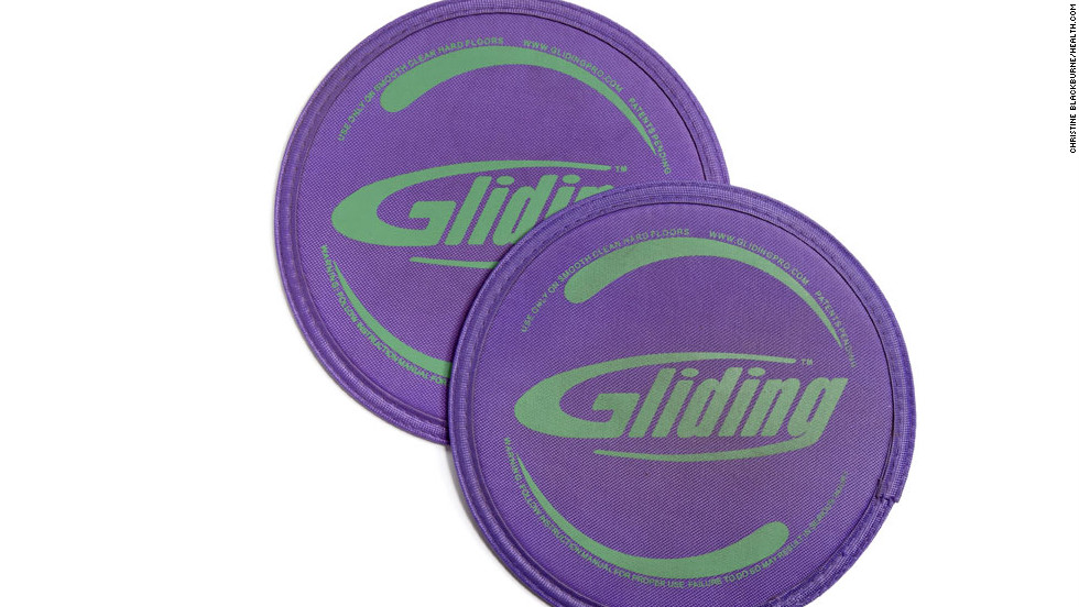 "These budget-friendly discs ($15, <a href=""http://www.power-systems.com"" target=""_blank"">power-systems.com</a>) target the three C's: calisthenics, cardio, and core. Simply place them under your hands, feet, or knees during exercises to increase your range of motion. Moves like mountain climbers and lunges are instantly more challenging."