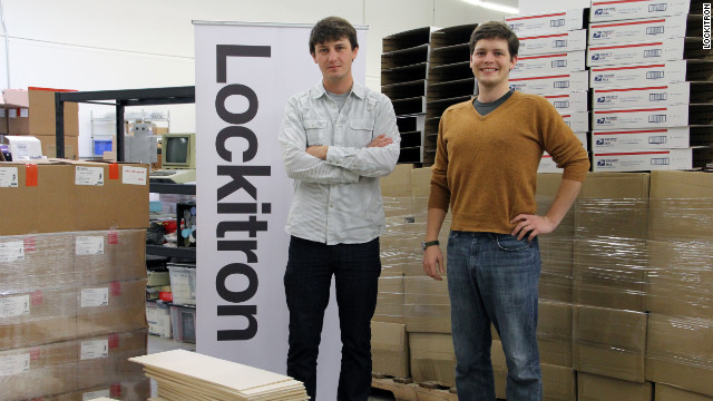 Paul Gerhardt and Cameron Robertson, co-founders of Lockitron, which allows you to unlock your front door with your phone.