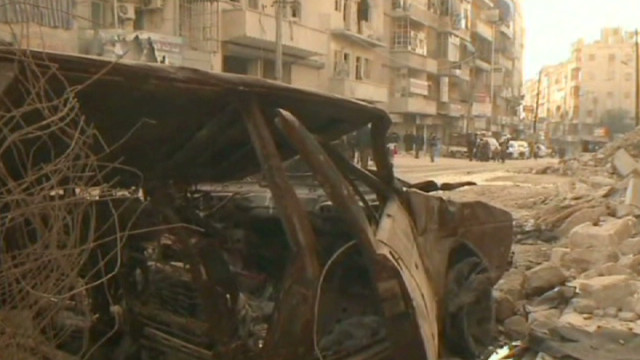 Residents return to homes in Syria