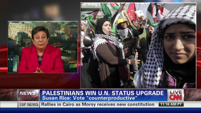 Palestinians celebrate UN status upgrade