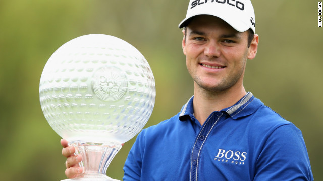 Former world No. 1 Martin Kaymer celebrates his first tournament victory since November 2011.