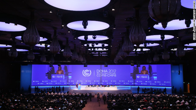 The opening ceremony of the 18th United Nations climate change conference in Doha on November 26, 2012.