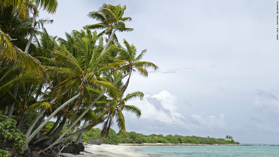 Oeno Island lies 128 kilometers (80 miles) North north-west of Pitcairn, and (along with Ducie, the fourth island in the Pitcairn group) is one of the most southerly coral atolls in the world.