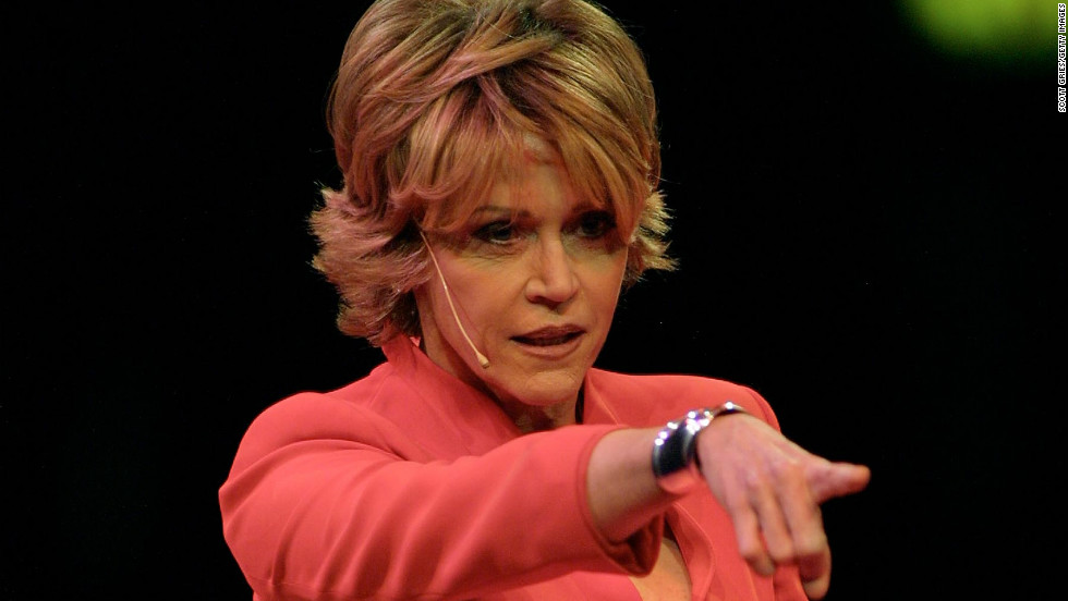 "Fonda performs at ""V-Day,"" a gala benefit of Eve Ensler's ""The Vagina Monologues,"" in New York in 2001. V-Day bills itself as a global activist movement to end violence against women and girls. Fonda has been an active supporter since 2000, according to the V-Day <a href=""http://www.vday.org/node/54"" target=""_blank"">website</a>."