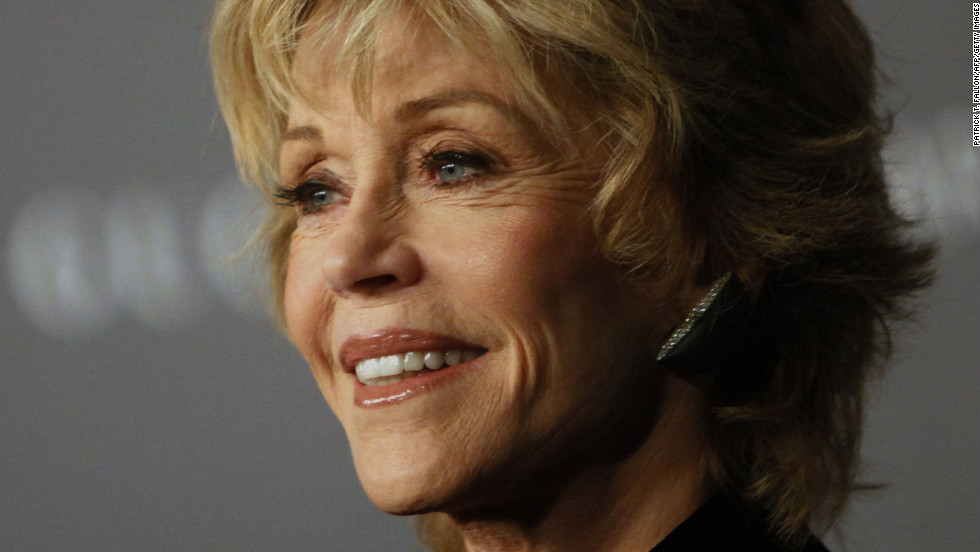 Fonda arrives at the LACMA ART + FILM gala at the Los Angeles County Museum of Art in October 2012.