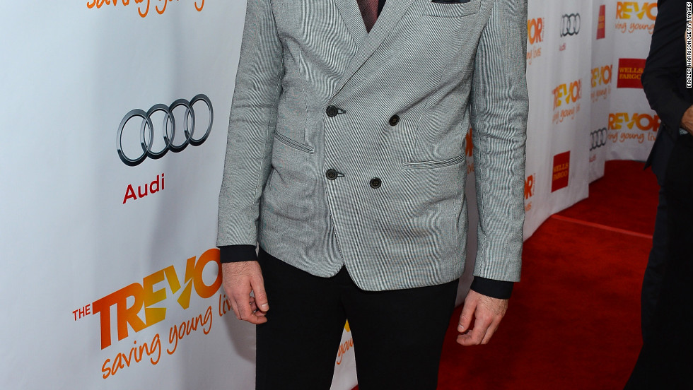 Zachary Quinto arrives at 2012 Trevor Live.