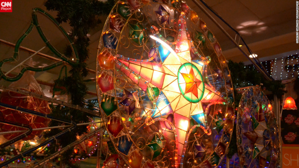 """iReporter <a href=""""http://ireport.cnn.com/docs/DOC-887174"""">Christian Bordo</a> captured this image of a parol -- a star shaped lantern made out of bamboo and paper, traditional to Filipino Christmas celebrations."""
