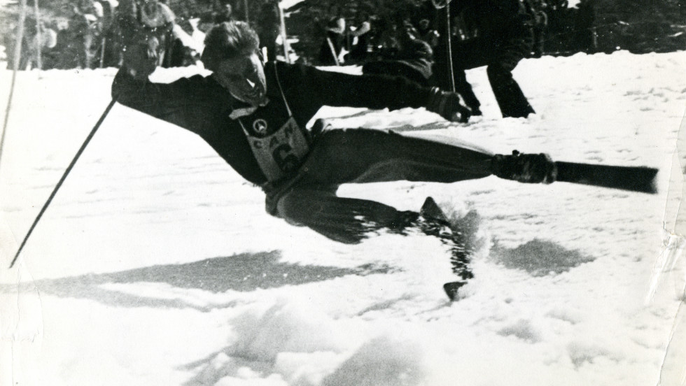 Henri Oreiller was the first Olympic champion to come from Val d'Isere in the French Alps. A maverick risk taker, he won three golds at the 1948 Winter Games. He used to fly over bumps in the slopes, balancing himself mid air.