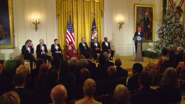 Obama honors Kennedy Center recipients