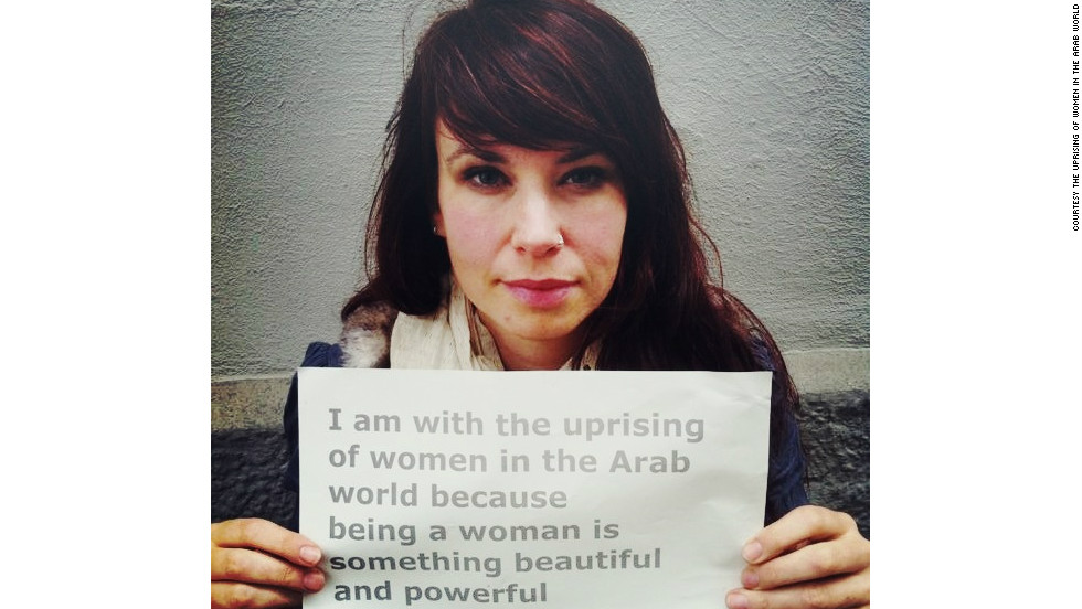 Not all submissions to the campaign came from the Arab world. This photo was sent in by Sara, from Germany.