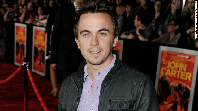 Actor Frankie Muniz arrives at the premiere of Walt Disney Pictures' 'John Carter' at the Regal Cinemas L.A. Live Stadium 14 on February 22, 2012 in Los Angeles, California.