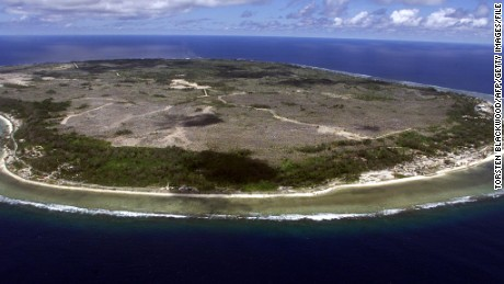 (File photo) The island is 21 square kilometers and has a population of 10,000, almost all of whom live on the coast.