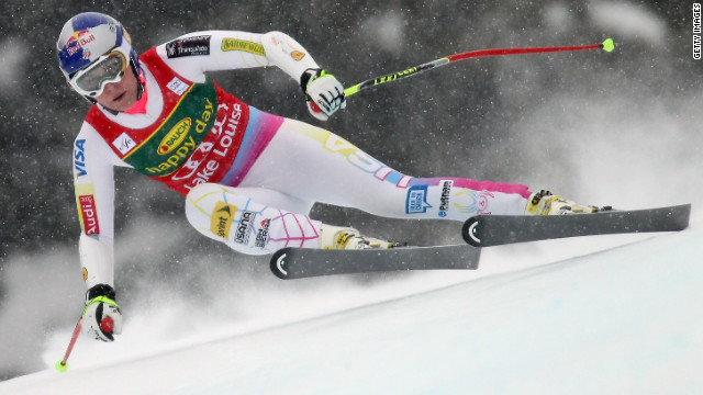 Vonn racing at Lake Louise in 2012