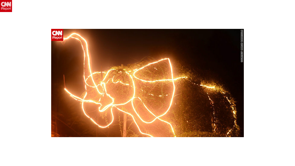 "iReporter Aaron Banaticla loved this <a href=""http://ireport.cnn.com/docs/DOC-887310"">outlandish elephant light display</a> near his Laguna home, although he was at a loss to explain why locals had chosen the creature for their Christmas decorations."