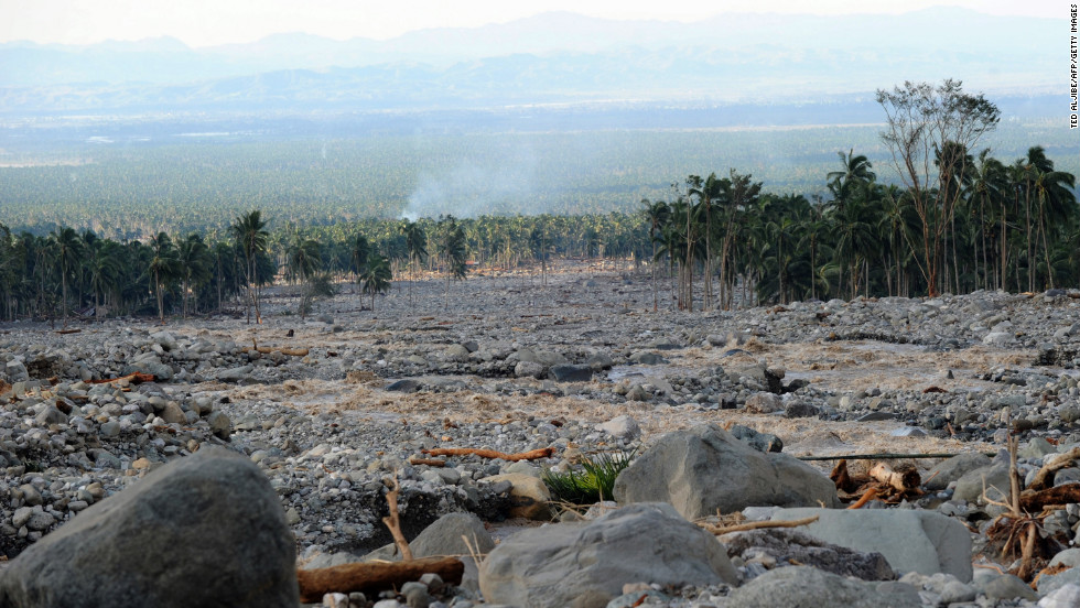 These boulders cascaded into New Bataan township. This picture was taken December 5.