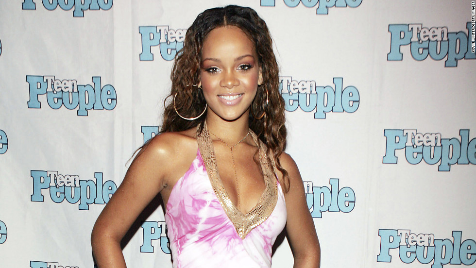 Rihanna attends an event hosted by Teen People in West Hollywood in July 2005.