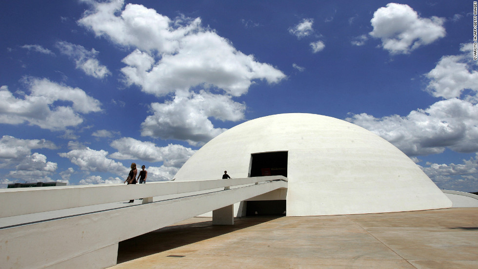 "The National Museum of the Republic in Brasilia was inaugurated in 2006, on Niemeyer's 99th birthday. The museum, which is also known as National Museum Honestino Guimarães, was <a href="" http://www.brasil.gov.br/brasilia-english/tourist-guide/cultural-tourism/national-museum/br_model1?set_language=en"" target=""_blank"">named after a student</a> by that name who fought for democracy and disappeared."