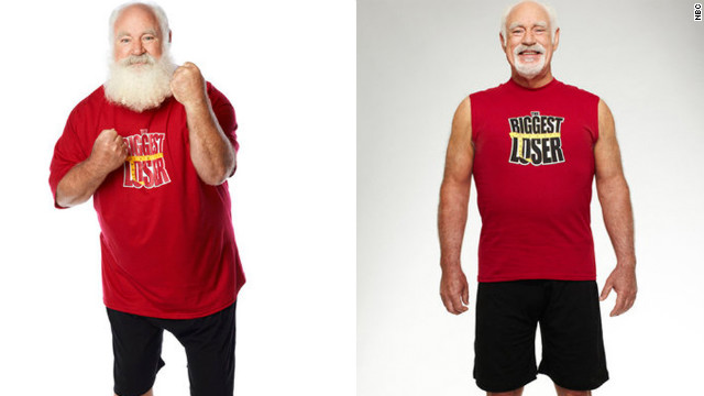 "Roy Pickler, a professional Santa, dropped 88 pounds on ""The Biggest Loser."""