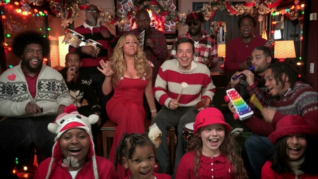 Fallon, Carey sing holiday ditty