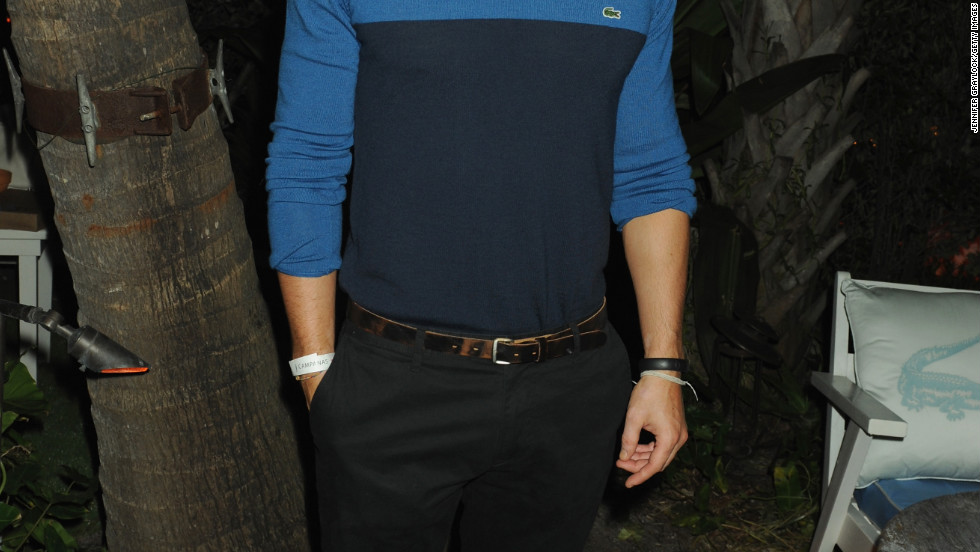 Kellan Lutz attends an event in Miami.