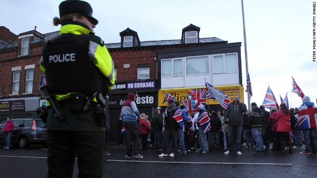 Days of violent outbreaks were prompted by a decision by Belfast city councilors to stop flying the Union flag year-round.