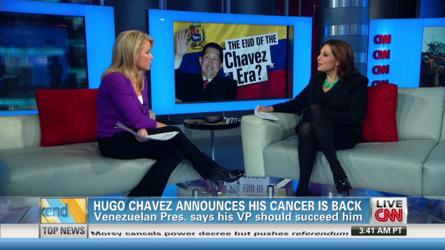 Hugo Chavez announces his cancer is back