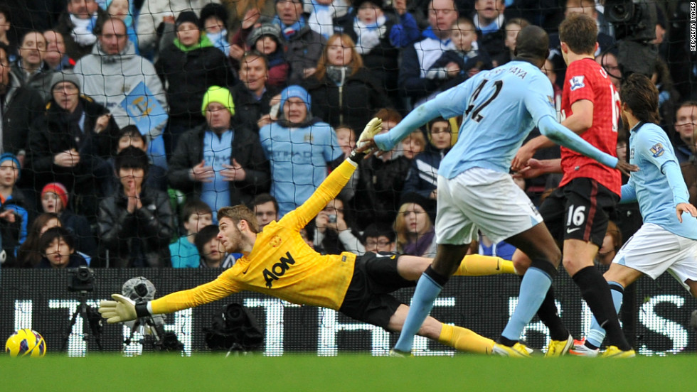 United should have gone 3-0 ahead just before the hour mark but Ashley Young's effort was ruled out in a marginal offside decision. City hit back immediately through midfielder Yaya Toure.