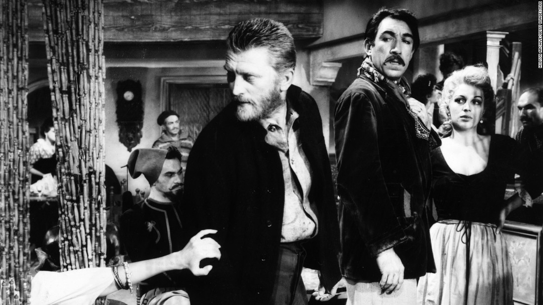 "Douglas stars as Vincent van Gogh  in director Vincente Minnelli's film about the Dutch painter, ""Lust for Life"" (1956). Co-star Anthony Quinn, right, won the best supporting actor Oscar  for his role as rival Paul Gauguin."