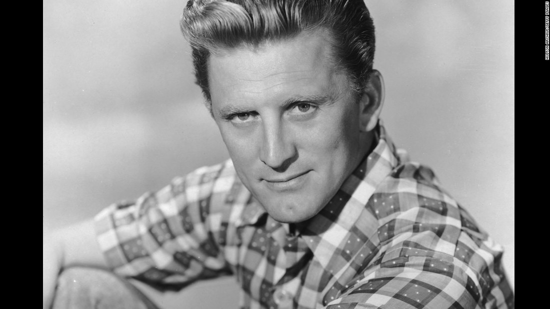 "Kirk Douglas, one of the last survivors of Hollywood's golden age, celebrates his 100th birthday on Friday, December 9. He embarked on a screen career in 1946 after theater work and a stint in the Navy during World War II. The three-time Oscar nominee, pictured here circa 1955, appeared in such classics as ""Champion"" (1949), ""The Bad and the Beautiful"" (1952), ""Lust for Life"" (1956), ""Paths of Glory"" (1957) and ""Spartacus"" (1960)."