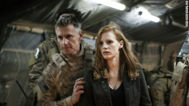 "In the new film ""Zero Dark Thirty"", Jessica Chastain plays a CIA analyst who is part of the team hunting Osama bin Laden."