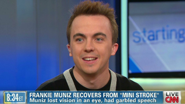 Frankie Muniz talks 'mini-stroke'
