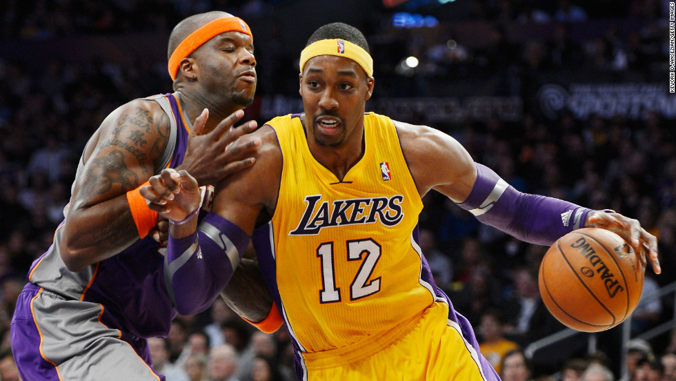 """Having spent most of his career in Orlando, Dwight Howard, also known as """"Superman,"""" joined the L.A. Lakers this year with an already impressive list of accomplishments. He is the only player to lead the league in rebounds in five consecutive seasons, and he has led the league in blocks per game three times and double-doubles twice. He's also the youngest player to reach 7,000 rebounds. At 27, he still has gas in the tank and is an inevitable first-ballot Hall of Famer. Now, if he could just figure out those free throws."""