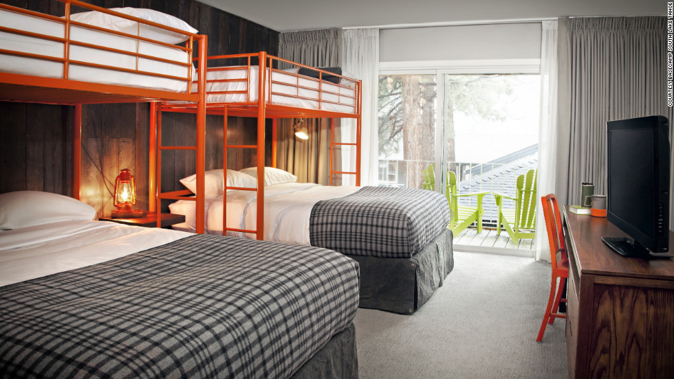 Basecamp has some rooms with two queen beds and two bunks that will accommodate six.