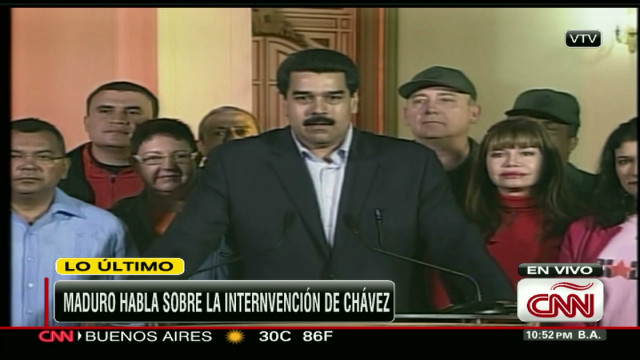 cnnee maduro speaks chavez health_00010601