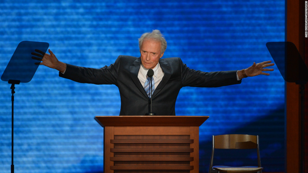 Clint Eastwood took advantage of his prime speaking spot at the Republican National Convention to say - well, we're not sure we remember. We were too focused on the empty chair he decided to talk to instead. The routine was viewed as the lone glitch in an otherwise smooth convention for Romney. Some later questioned the campaign's decision to put Eastwood on before Mitt Romney's acceptance speech later that night.