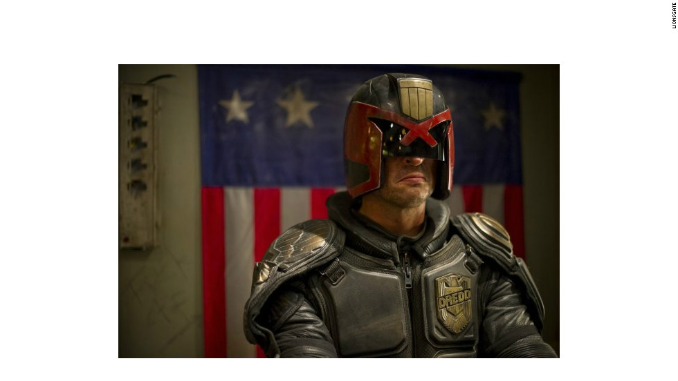 """Dredd"" (2012), starring Karl Urban and Olivia Thirlby."