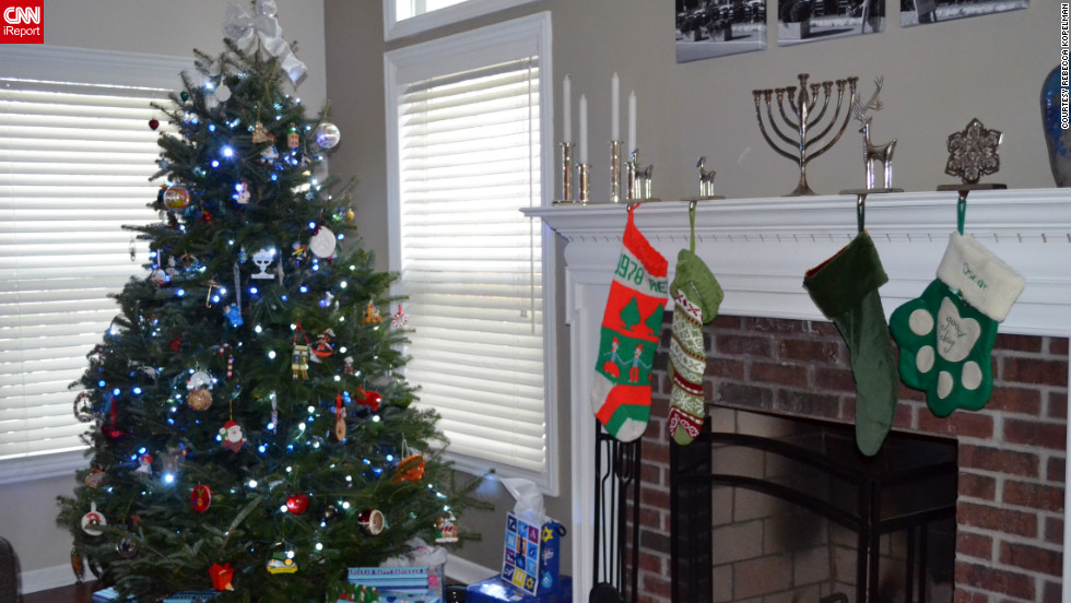Rebecca Kopelman and her husband began celebrating Chrismukkah in their first year of dating  as CNN com