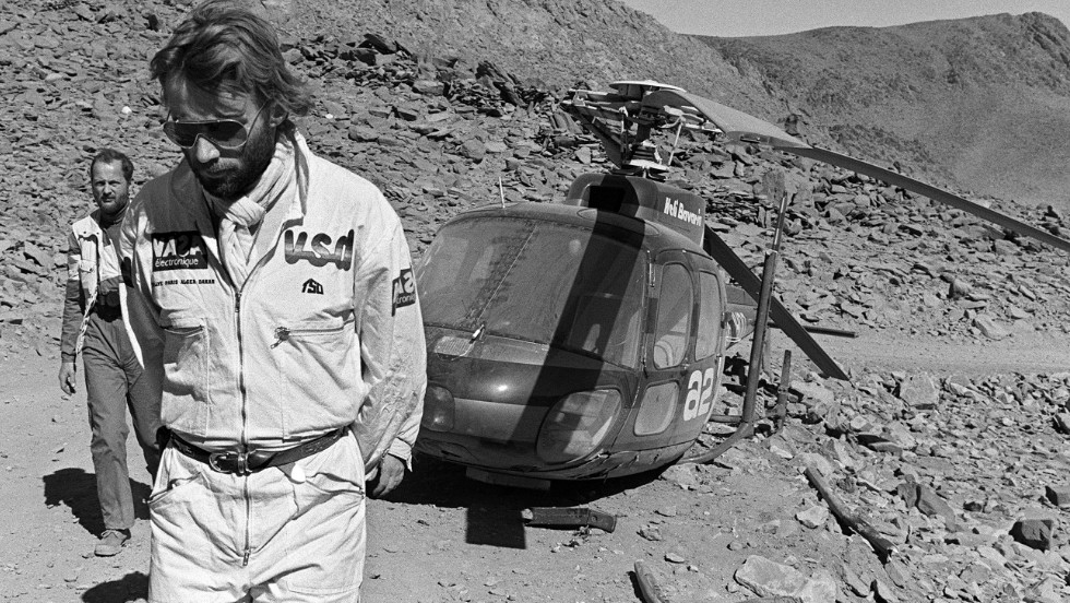 "The race was the idea of Frenchman Thierry Sabine after he got lost on his motorbike in the desert during the Abidjan-Nice Rally back in 1977. ""A challenge for those who go, a dream for those who stay behind,"" is how Sabine described the inaugural Dakar."