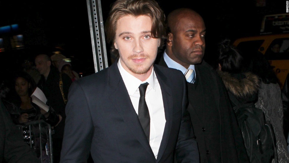 """On the Road"" actor Garrett Hedlund is seen arriving at the movie's premiere in New York on December 13."