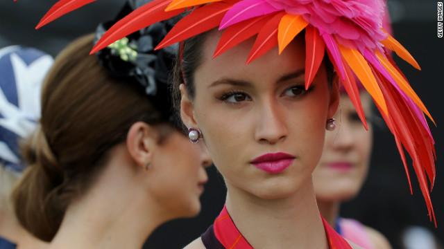 Fashion at the Melbourne Cup.