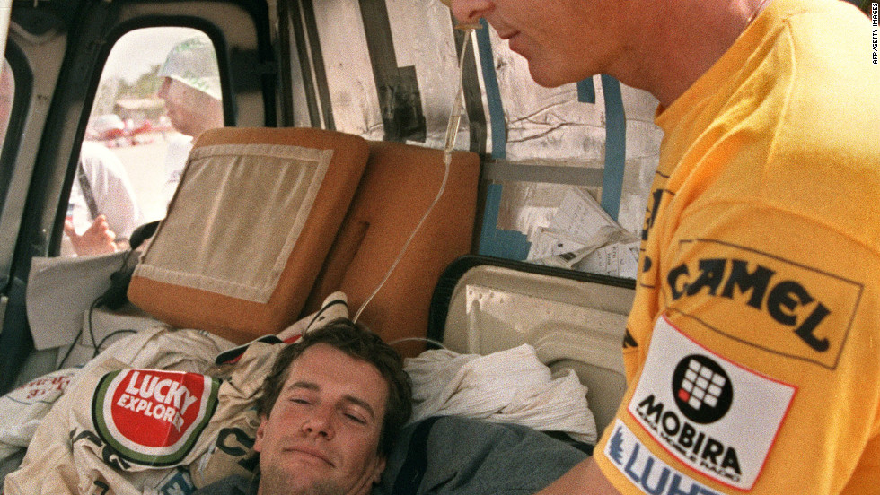 During the 1989 Dakar, Peugeot was fighting for victory with Ari Vatanen (R) and Jacky Ickx both driving identical cars. The former boss of Peugeot Jean Todt, who is now FIA president,  became so concerned both might crash he opted to implement team orders. Taking a 10-franc piece out of his pocket, Todt flipped the coin -- with Vatanen winning the toss. Vatanen is pictured with Auriol during 1987 race.
