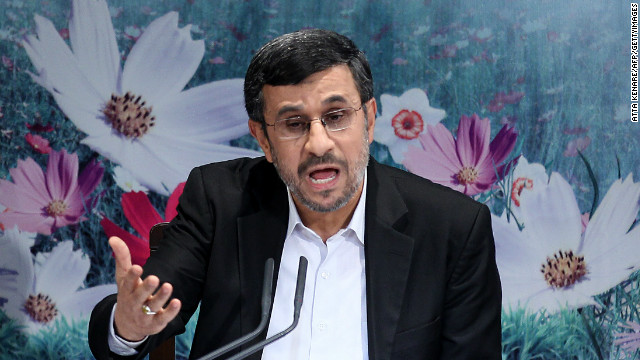 Iranian president Mahmoud Ahmadinejad speaks during a press conference in Tehran on October 2.